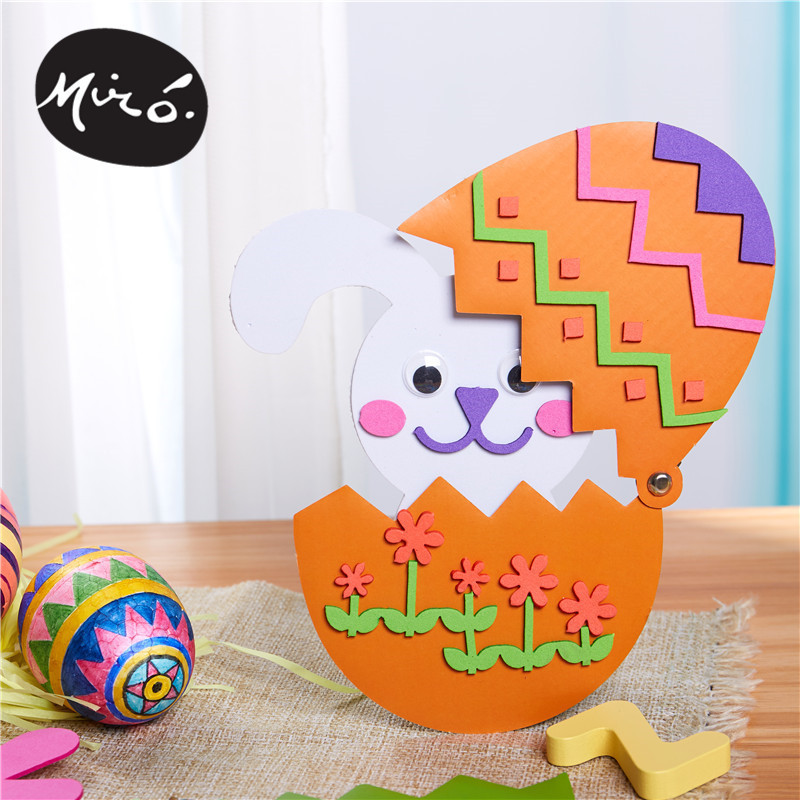Easter Handmade DIY Painted Egg Stereo Egg Shell Creative Chicken Adhesive Handmade DIY For Making Art And Craft Material