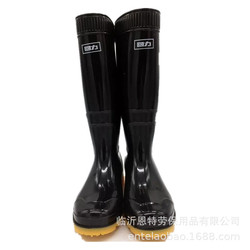 Warrior Rain Shoes 807-Rubber Sole Medeum Hight Waterproof Shoes Labor Safety Rain Boots Men's Oil-Resistant Acid-base Waterproo