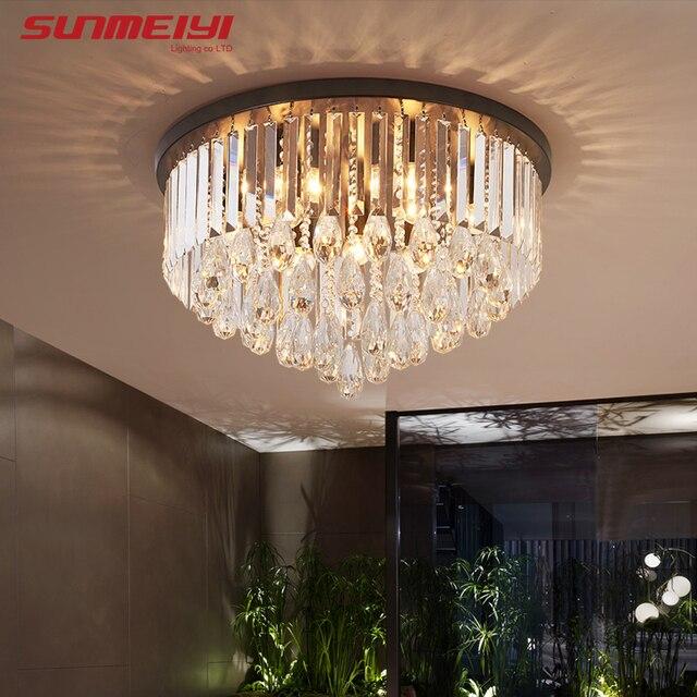 Modern LED Ceiling Lights Crystal Black Ceiling Lamp Kids room Home Lighting For Living room Kitchen Bedroom candeeiro de tecto