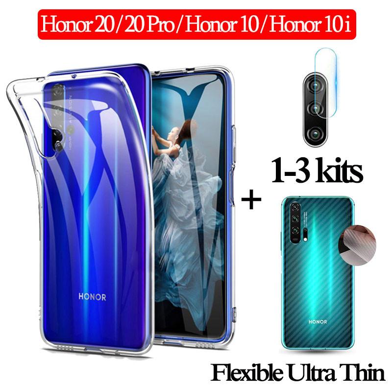 1-3Kits Lens Glass For Huawei Honor20pro View 20 Clear Case Back Film Honor10lite 10 I Ultra Thin Back Cover 10 I Honor 20Pro