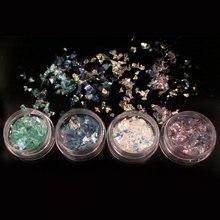4 шт оболочки стеклянная бумага Флуоресцентный цвет целлофановые инструменты для украшения ногтей YUF99