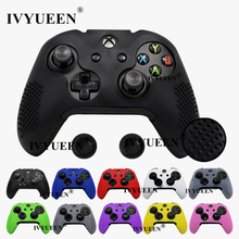 IVYUEEN 15 Colors Silicone Cover for Microsoft Xbox One X S Slim Controller Studded Protective Case Skin with Thumb Stick Grip
