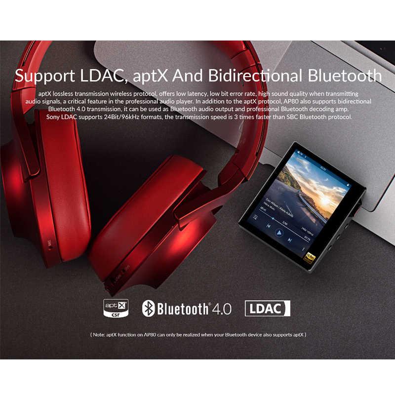 Hidizs AP80 hi-res ES9218P Bluetooth odtwarzacz MP3 HIFI bezstratna muzyka LDAC USB DAC DSD Radio FM HibyLink DAP FLAC odtwarzacz audio