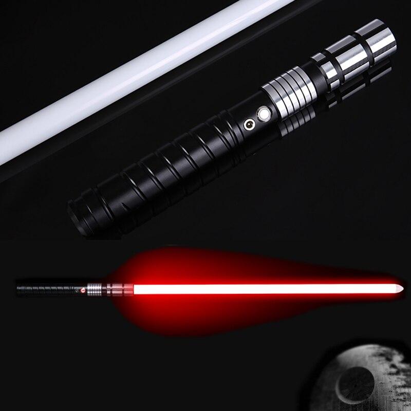 LGT LT2 Jedi LED miecz świetlny życie FX ciężkie pojedynki akumulator miecz świetlny głośny dźwięk wysokiej światła z FOC MetalHilt boże narodzenie w Świecące zabawki od Zabawki i hobby na  Grupa 1