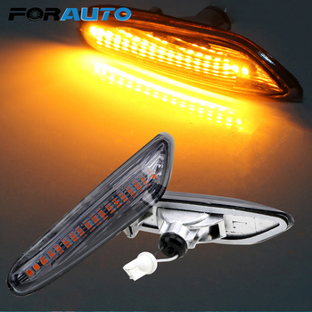 FORAUTO LED Side Marker Light Car Indicator Turn Signal Lights For BMW E90 E91 E92 E60 E87 E82 E61 Error Free Auto Lamp DC 12V image