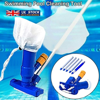 1 Set Jet Swimming Pool Vacuum Cleaner Floating Objects Cleaning Tools Vac Suction Head Pool Fountain Vacuum Brush Cleaner 1 set vacuum cleaner foam