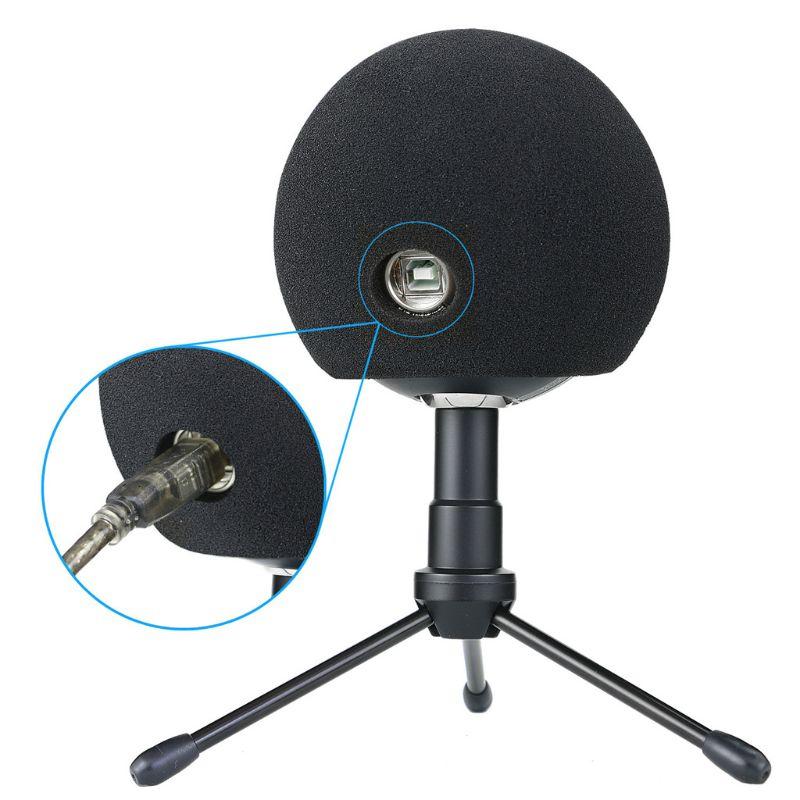 1 Pc Foam Mic Cover Kunstmatige Bont Mic Voorruit Mof Voor Blauw Sneeuwbal Microfoon 13.5 + 11.5 + 7.5Cm