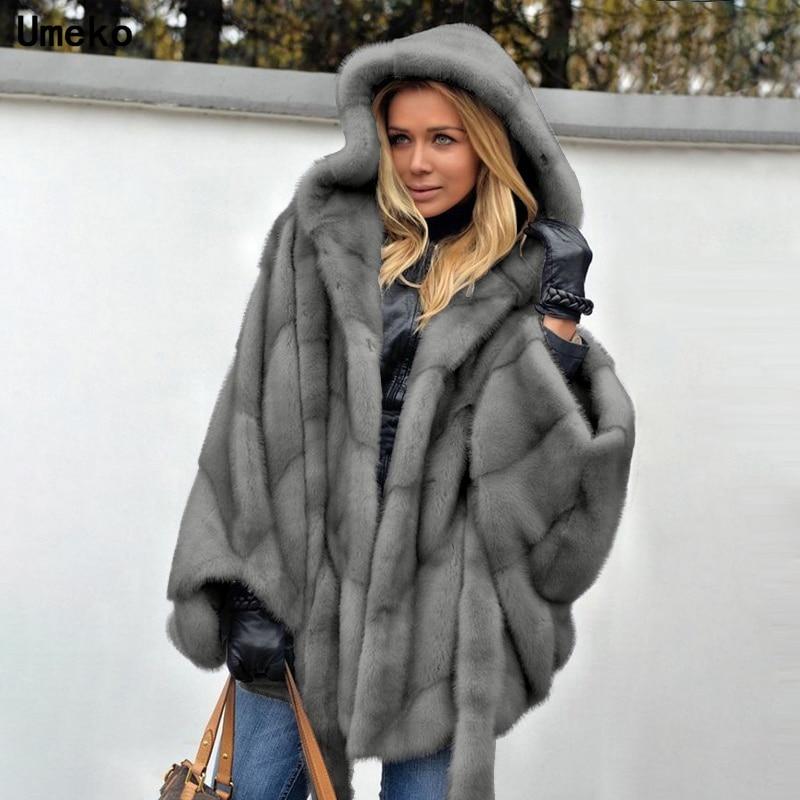 Umeko New Mink Fur Coat Winter Fashion Imitation Fur Coat Women's Warm Top Elegant Thick Coat New Fashion Ladies Coat Sale S 5XL|Faux Fur| - AliExpress