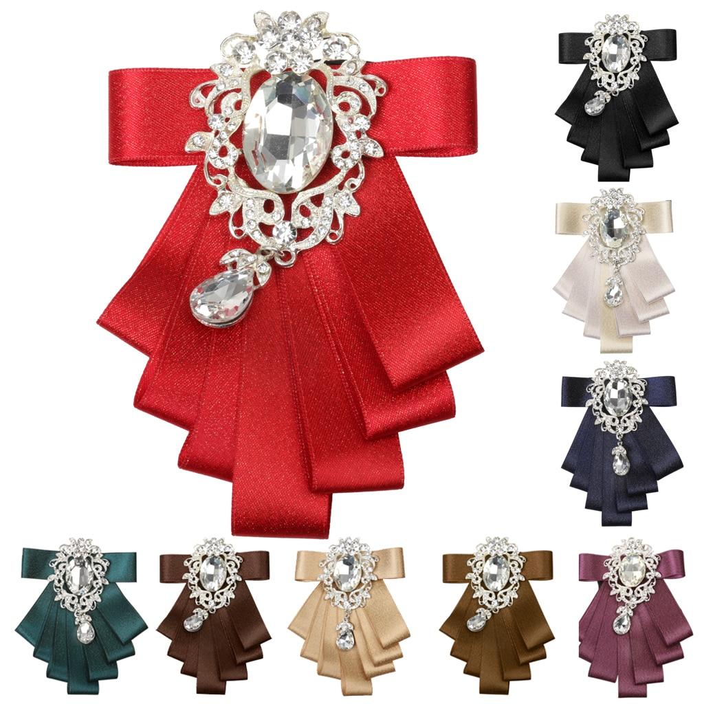 Men's Bridegroom Formal Bow Tie Wedding Party Dance Ribbon Silk Diamand Neckwear