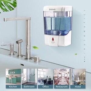 Image 2 - 600 Ml Capaciteit Automatische Zeepdispenser Touchless Sensor Handdesinfecterend Wasmiddel Dispenser Wall Mounted Voor Badkamer Keuken
