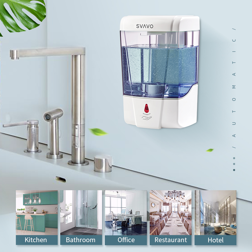 Image 2 - 600ml Capacity Automatic Soap Dispenser Touchless Sensor Hand  Sanitizer Detergent Dispenser Wall Mounted For Bathroom  Kitchenautomatic soap dispensersoap dispenserdetergent dispensers -