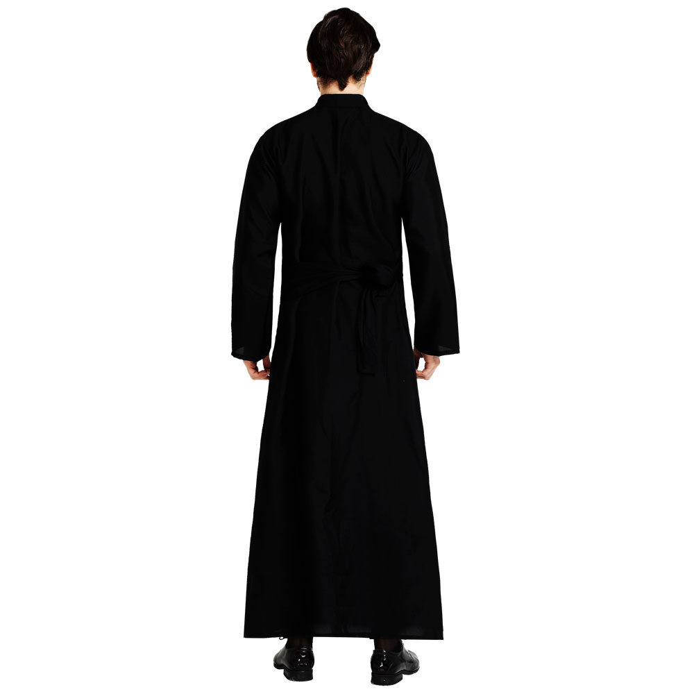Image 4 - Umorden Adult Black Noble Priest Costume Men Religious Pastor Father Costumes Halloween Purim Party Mardi Gras Fancy Dress-in Holidays Costumes from Novelty & Special Use