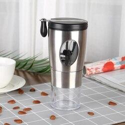 Ręczny młynek do kawy ze stali nierdzewnej Mini ręczny podręcznik ze stali nierdzewnej ręcznie robiony młynek do kawy Burr Grinders Mill Kitchen Tool w Ręczne młynki do kawy od Dom i ogród na