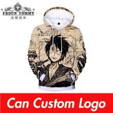 One piece Hoodies Luffy hot anime 3D Mens Sweatshirt 2019 Autumn Winter New Tops Men/Women Hooded High Quality Man Hoodies
