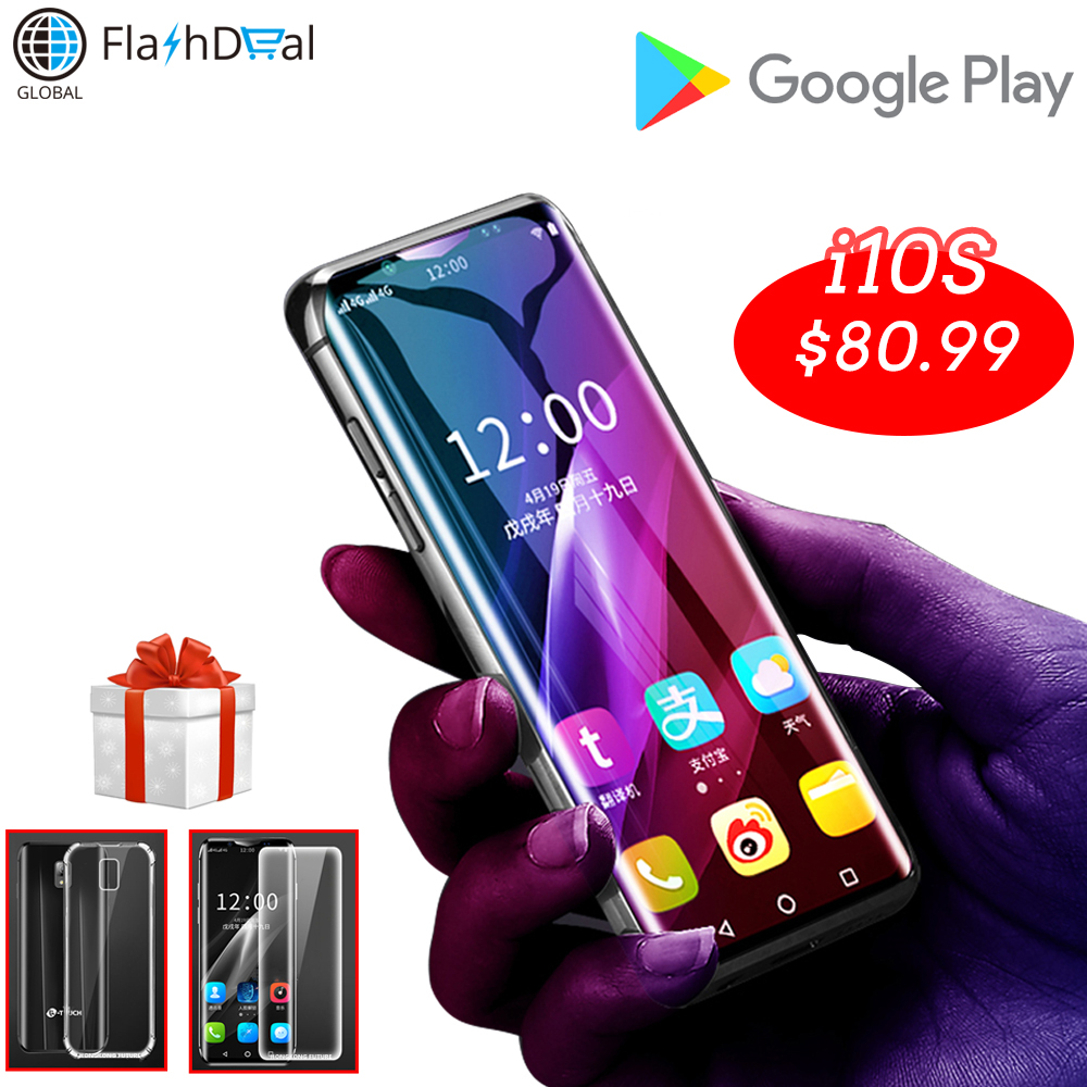 K-Toque i10S menor celular desbloqueado mini-smartphone android 8.1 Google Play MTK6580 telefones celulares Quad Core inteligente telefone