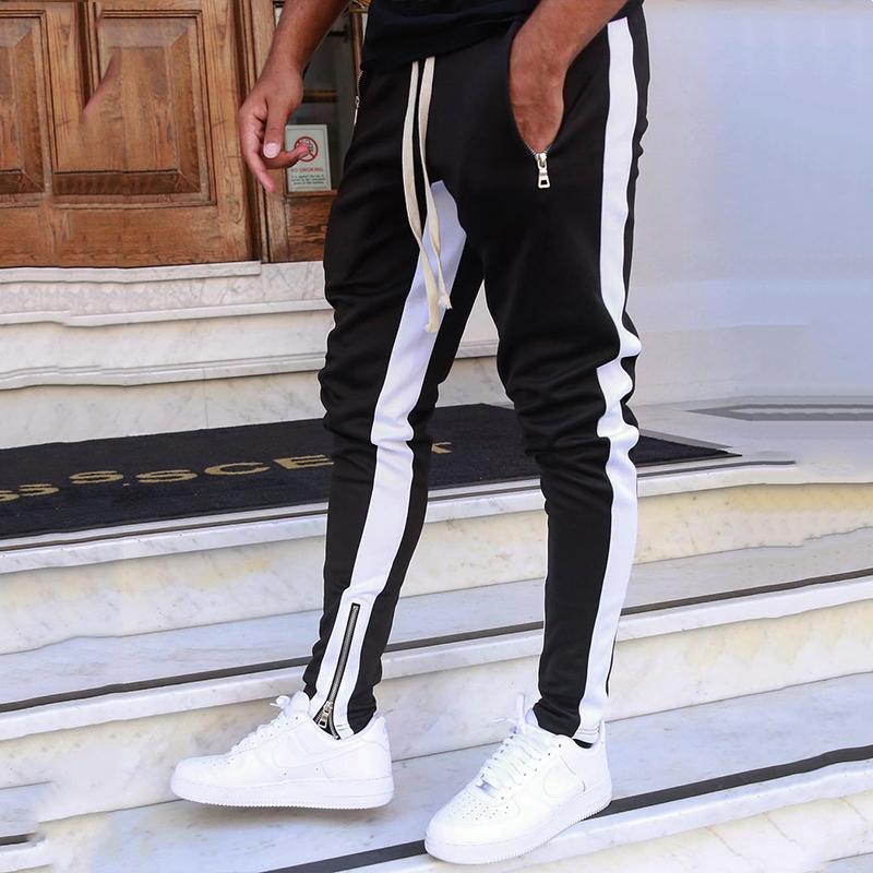 Mens Joggers Harem Pants Men Fashion High Street Sweatpants 2019 Autumn Skinny Trousers Hip Hop Pant Streetwear Joggers Pants