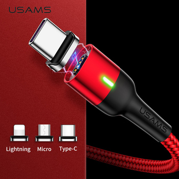 Magnetic Cable for iPhone Samsung USAMS 3A Fast Charging Magnet phone USB Cable Micro USB