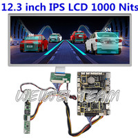1920x720 12.3 inch tft lcd stretched bar ips display for car navigation automotive screen Android HDMI driver board 1000 nits