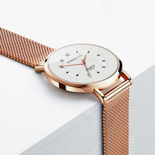 Luxury Brand Women Watch Thin Dial Casual Quartz Clock Mesh Belt Strap Fashion Rose Gold Wrist Watch Relogio Feminino W50(China)