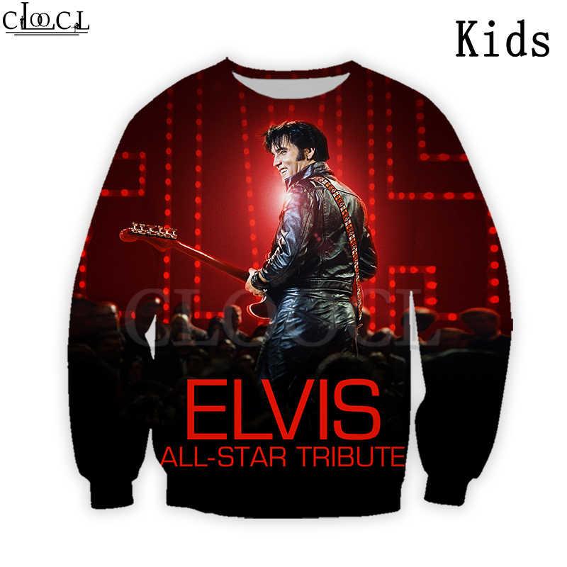 Sudadera con capucha con estampado 3D de Elvis Presley, cantante de Rock, sudadera para niño y niña, ropa para hija, camiseta, pantalones cortos de moda, traje, envío directo