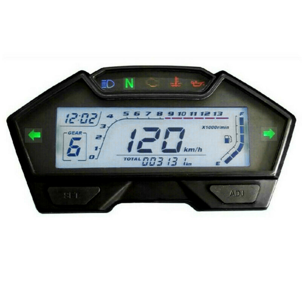 Multifunctional LCD Odometer Kph Mph RPM Speed Modification Accurate Fuel Gauge Accessories Motorcycle Speedometer Universal image