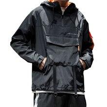 New Fashion Men Hooded Jacket Pizex Windbreak Casual Hoodie Sweatshirt Loose and Comfortable Hip-hop Tops