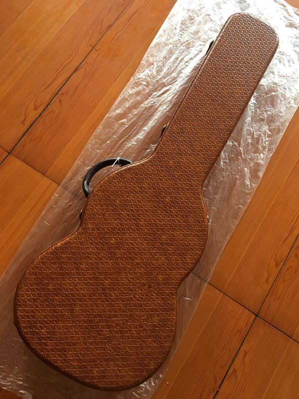 Brown diamond shaped electric guitar hard box/customizable