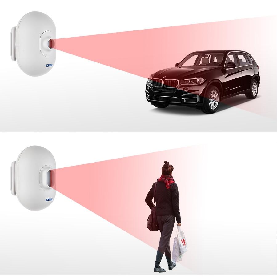 KERUI P861 alarma de seguridad inalámbrica para garaje alarma antirrobo PIR Sensor de movimiento Detector impermeable al aire libre