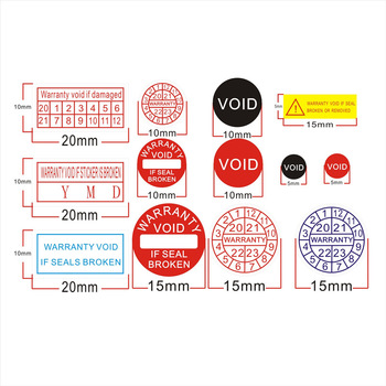 Factory direct wholesale Warranty sealing label Security Protection sticker void If seal broken Damaged Shredded paper 2020-2023 1