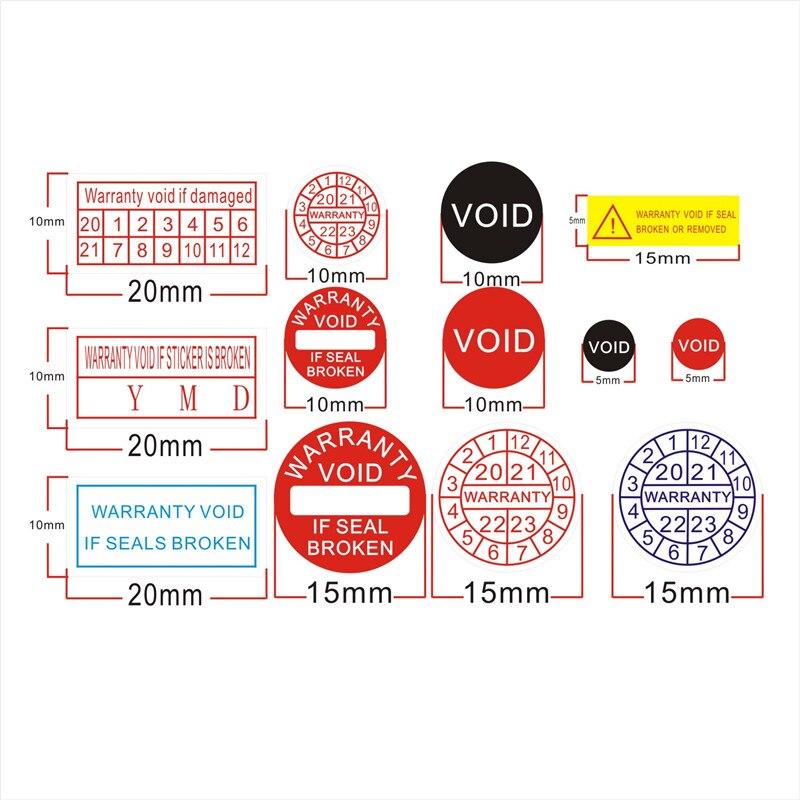 Заводская Оптовая Гарантия, уплотнительная этикетка, защитная наклейка void, если уплотнение, сломанная поврежденная бумага 2021-2024