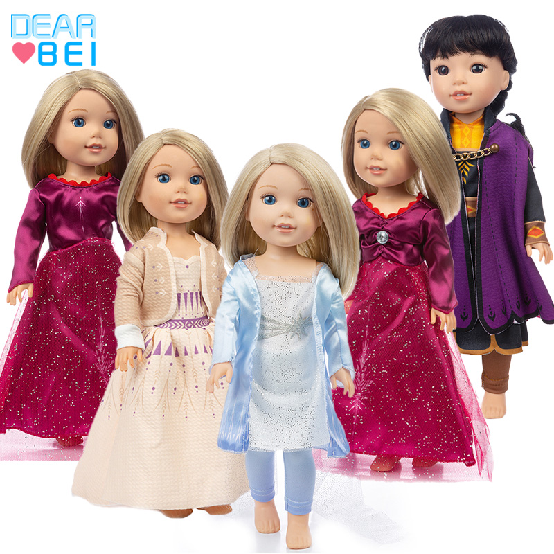 Clothes Of Ice And Snow Cartoon  Fit For American Girl Doll 14 Inch Doll Clothes , Shoes Are Not Included.