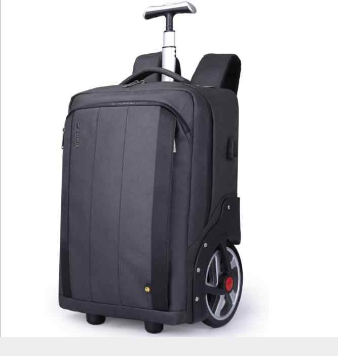 Men Travel trolley bag Rolling Luggage backpack bags on wheels wheeled backpack for Business Cabin carry on luggage bag wheels