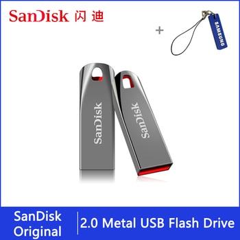 Original Sandisk USB Flash Drive 32 64 16 GB Pendrive 64gb 32gb 16gb Pen Drive 2.0 USB Stick Disk on Key Memory for Phone