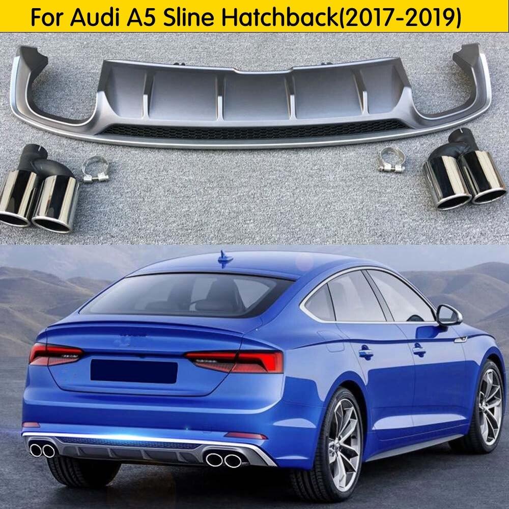 Pour Audi A5 Sline hayon 2017 2018 2019 haute qualité PU aileron arrière diffuseur pare-chocs garde protecteur plaque de protection pare-chocs couverture