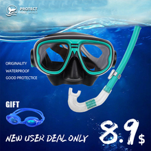Diving Mask Silicone Snorkel Anti-fog Children ScubaFull Dry Tube Underwater Swim Equipment