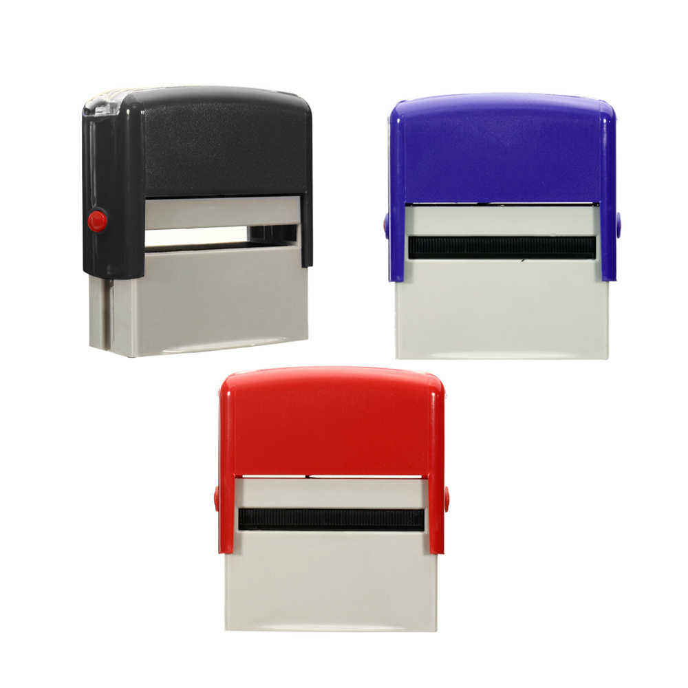 TTBD Juego de Sellos de Autoentintado Personalizado Personalizado DIY Nombre de Empresa N/úMero Direcci/óN Impresi/óN de Sello de Goma con Kit de Pinzas Azul