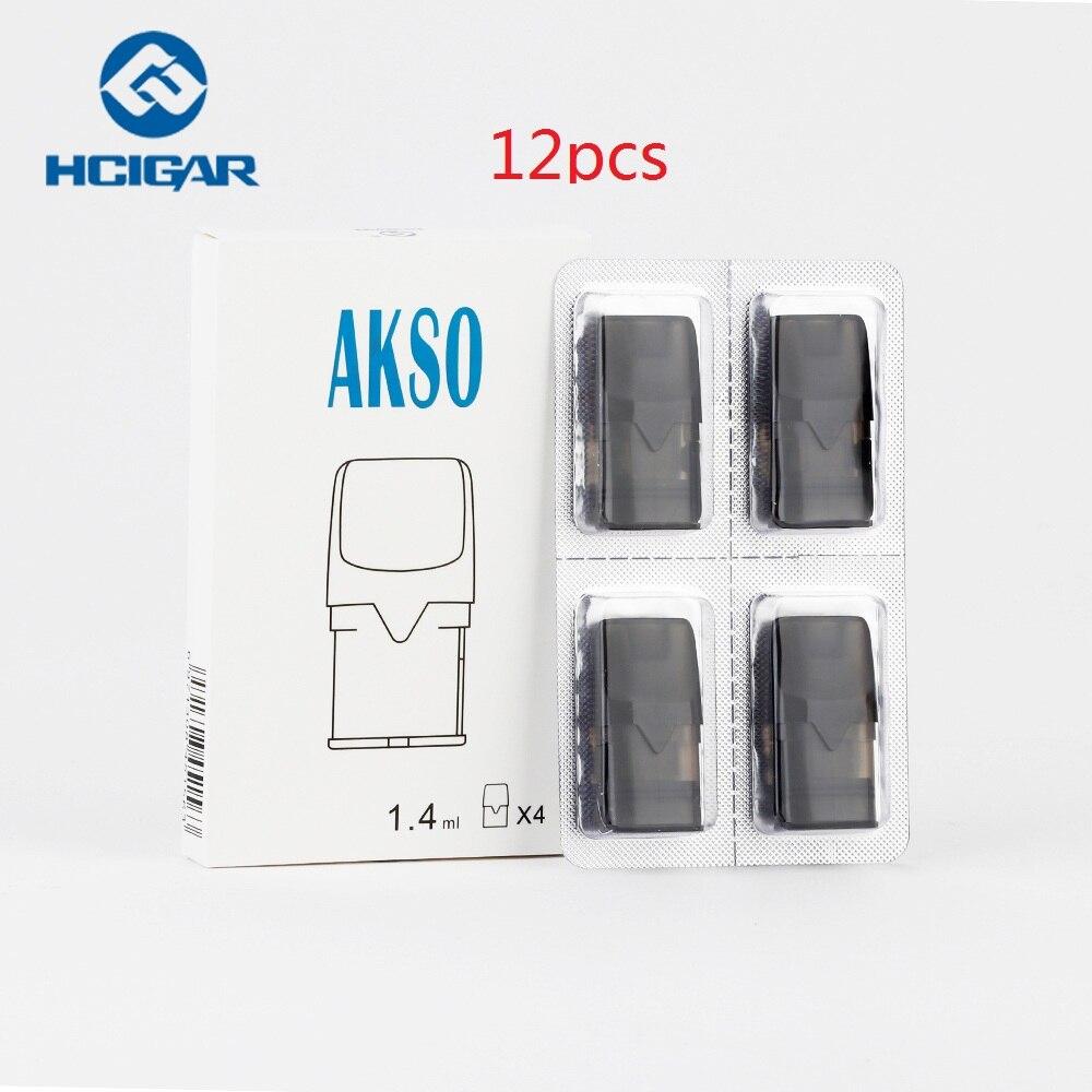 12 шт. оригинальный Hcigar Akso OS Pod картридж 1,4 мл емкость с 1.8ohm катушкой для Hcigar Akso OS Pod электронная сигарета, стартовый комплект аксессуаров