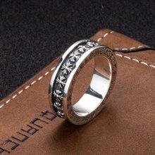 Taiyin – vieux anneaux croisés pour femmes et hommes, en argent sterling 925, boutique, tendance, personnalité punk