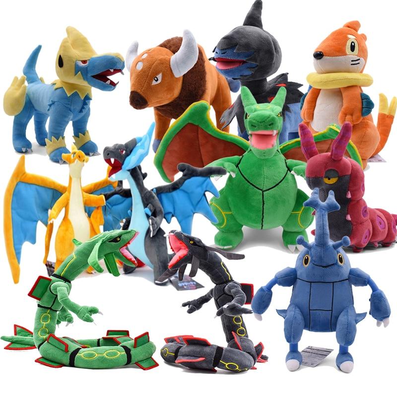 18-80CM Scolipede Deino Heracross Manectric Rayquaza Charizard Mega X&Y Buizel Tauros Plush Toys Soft Stuffed Doll Kids Gift