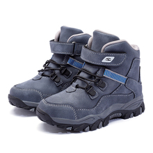 High Quality Boys Martin Boots 2020 Autumn Winter New Tide Anti-skid Keep Warm Snow Boots Plus Size 28-39 Big Kids Shoes
