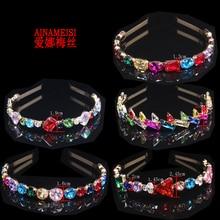AINAMEISI Princess Crystal Hairband Lady, Girl Wedding Accessories Glass Bridal Hairband Fashion Hair  Jewelry недорого
