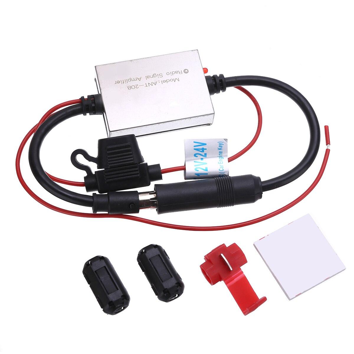Новое поступление, 1 шт., FM усилитель сигнала, автомобильная антенна с защитой от помех, радио усилитель сигнала FM 88-108 МГц для наружных детале...