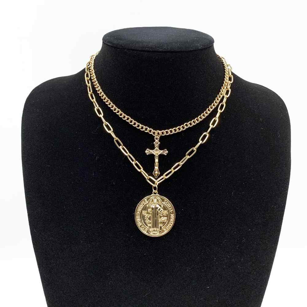 20 stijlen Gothic Ketting gouden ketting choker kraag cross lock hanger ketting vrouwen gothic emo kawaii heks rave sieraden