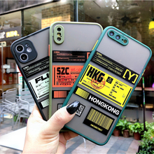 Camera Len Full Protection Ticket label Phone Case For iPhone 11 Pro X XR XS Max 7 8 Plus SE Shockproof Silicon Frame Back Cover