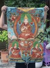 Tibet budismo pano de seda tsongkhapa buda thangka pintura mural