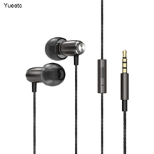 Wired Earphone Headset With Mic Metal In-Ear Earphone Stereo Bass Sound With 3.5mm Jack Earbuds for phone tablet 3 5mm jack in ear wired stereo earphone headset remote