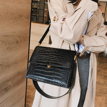 Fashion Crocodile Chains Women's Designer Handbags High Quality PU Leather Women Totes Ladies Alligator Shoulder Crossbody Bags