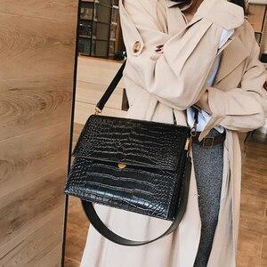 Image 2 - Moda timsah omuz çantaları kadınlar için tasarımcı çantaları yüksek kaliteli PU deri kadın tote bayanlar timsah Crossbody çanta