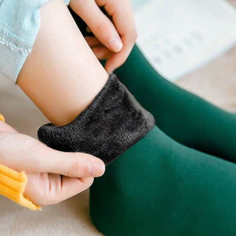 New Snow Socks Thickened And Plush Strong Breathable And Elastic Women's Warm Autumn And Winter Versatile Middle Sleeve Socks