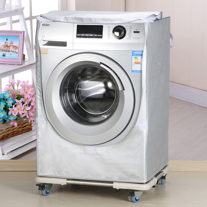 Wash Machine Cover Waterproof Case Home Sunscreen Laundry Dryer Polyester Silver Coating Roller Washing  Dust-proof Cover